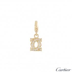 Cartier Yellow Gold Diamond C De Cartier Charm 0.21ct G+/VS+